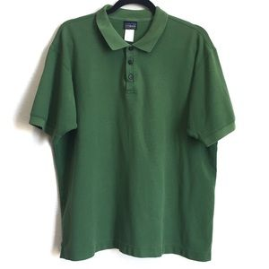 Patagonia Organic Cotton Green Polo Shirt, L
